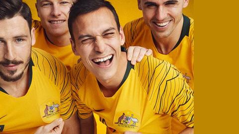 Áo Nike tuyển Úc lượt về