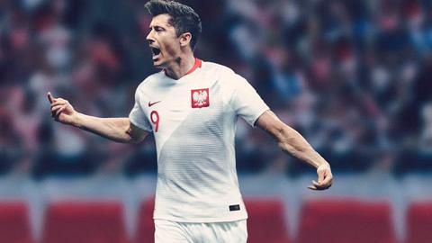 Áo Nike tuyển Ba Lan lượt đi