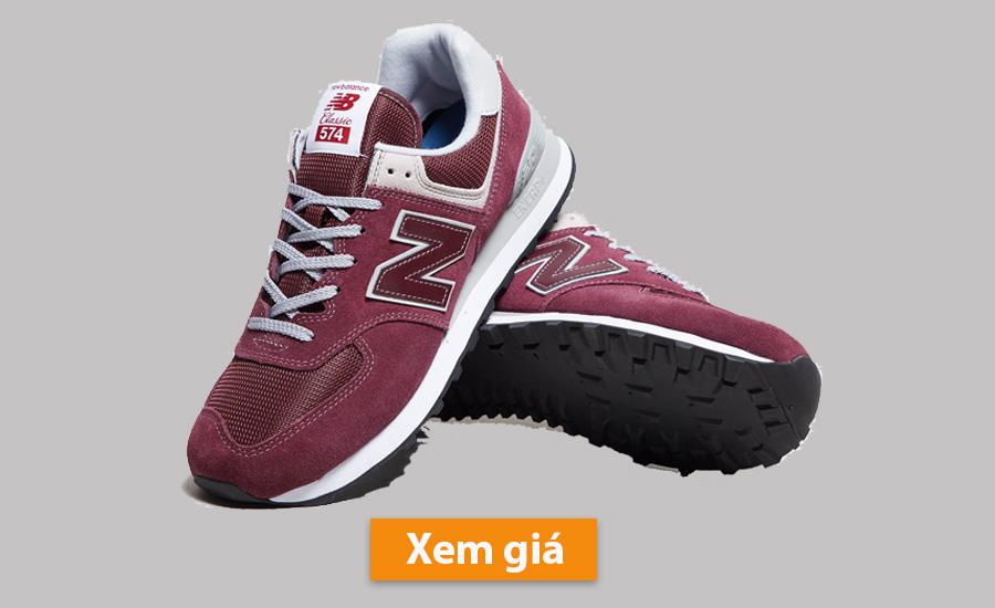 Giày New Balance 574 đỏ tía