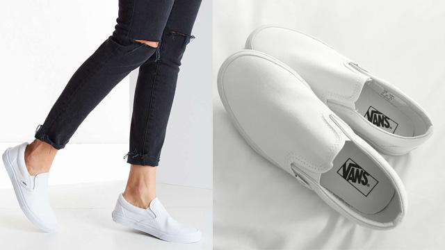 Giày Vans Slip On trắng