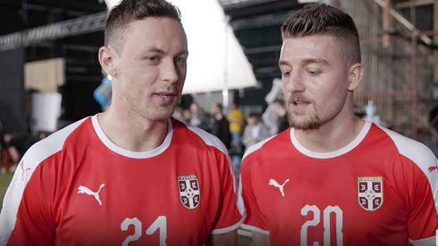 Áo Puma tuyển Serbia về