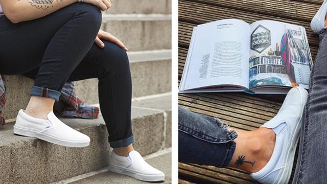 Giày sneaker nữ trắng Vans Slip On