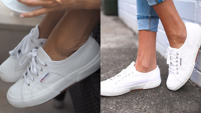 Giày sneaker nữ trắng Superga