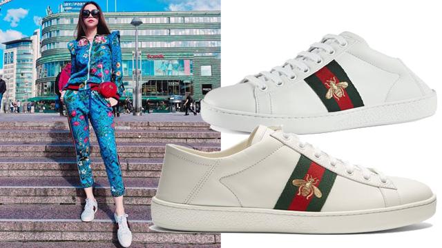 Giày sneaker nữ Gucci trắng