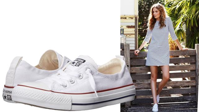 Giày sneaker nữ trắng Converse
