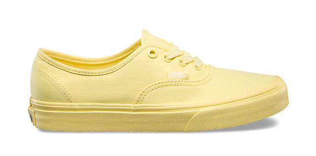 Giày Vans Authentic vàng pastel