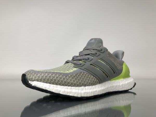 Giày Adidas Ultra Boost 2.0 xám gót xanh