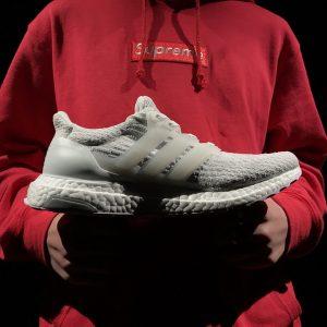 Giày Reigning Champ x Adidas Ultra Boost 3.0 trắng xám