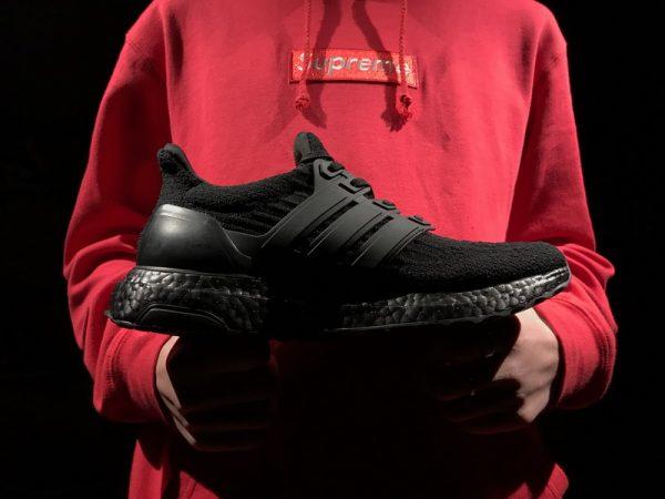 Giày Reigning Champ x Adidas Ultra Boost 3.0 full đen