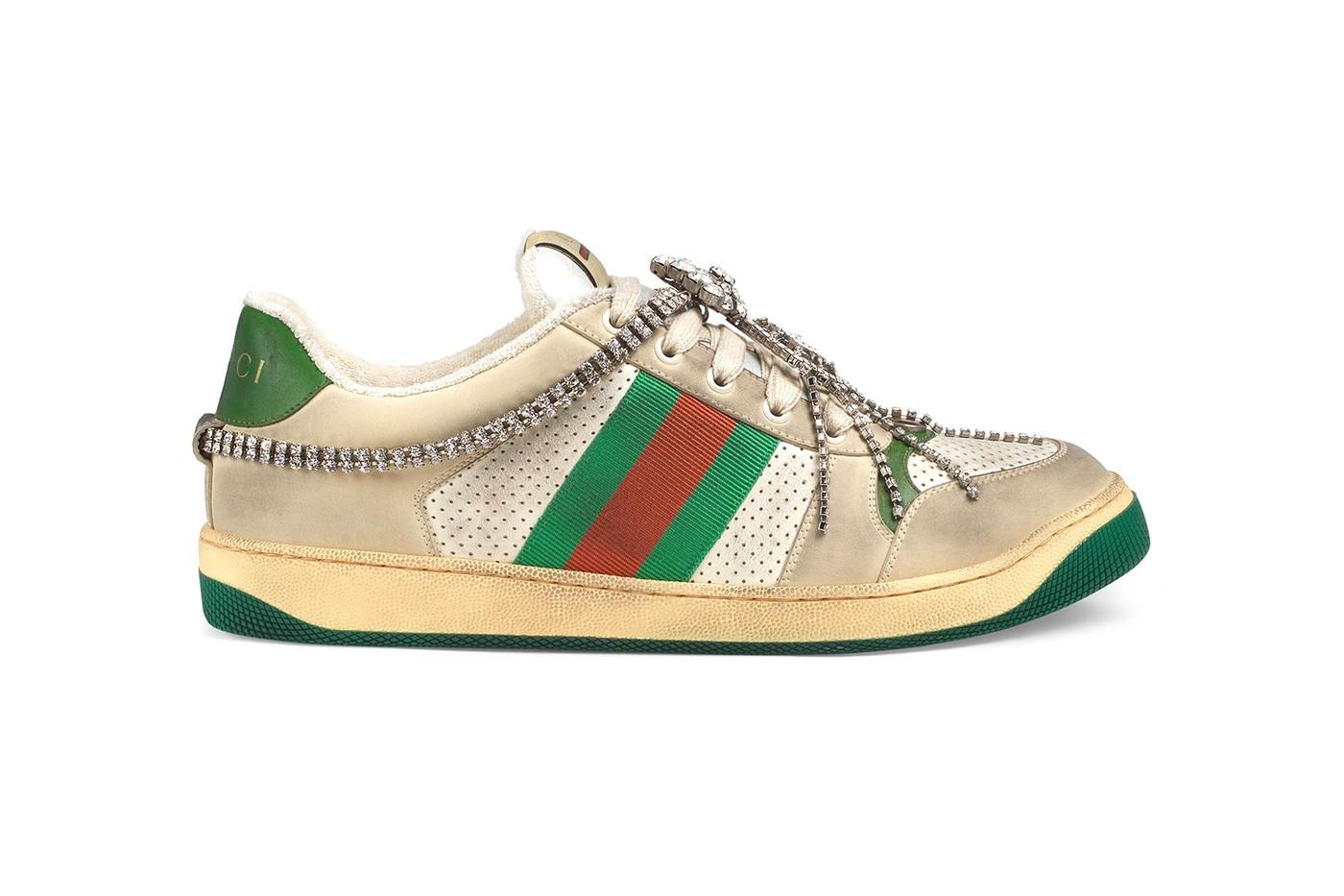 Gucci tung ra phiên bản sneakers đính pha lê với giá gần 40 triệu VND