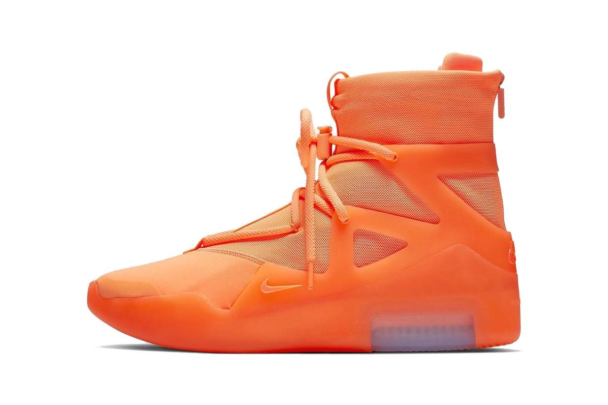Nóng! Sẽ không có phiên bản Nike Air Fear of God 1 màu cam nào được ra mắt