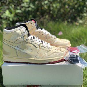 Giày Nigel Sylvester x Air Jordan 1 màu vàng nhạt