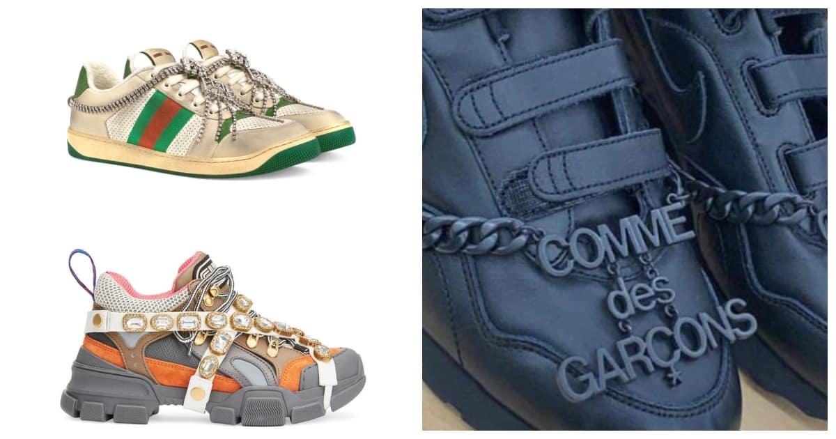 """Liệu Nike và CDG có """"lấy cảm hứng"""" từ Gucci trong thiết kế sneakers mới?"""