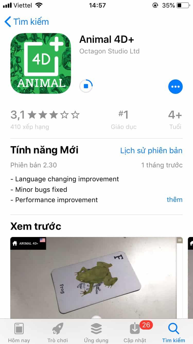 Cùng con học tiếng Anh với Animal 4D siêu thú vị