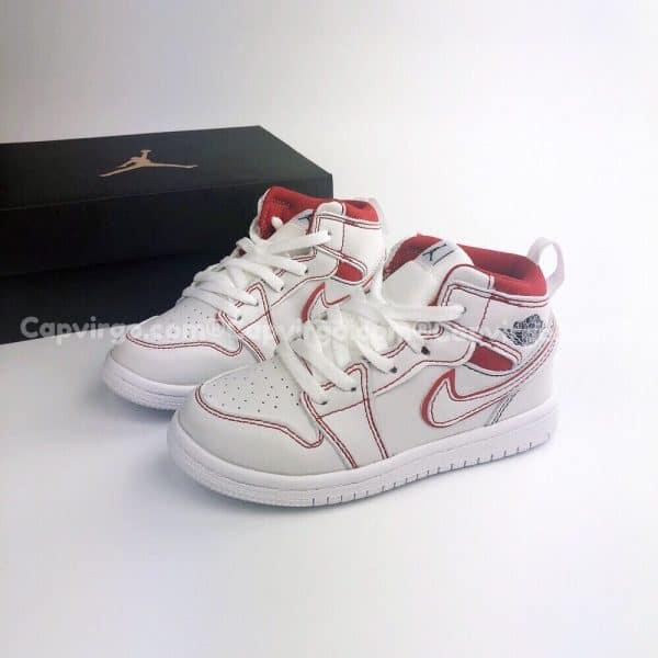 Giày trẻ em Air Jordan 1 Mid màu trắng