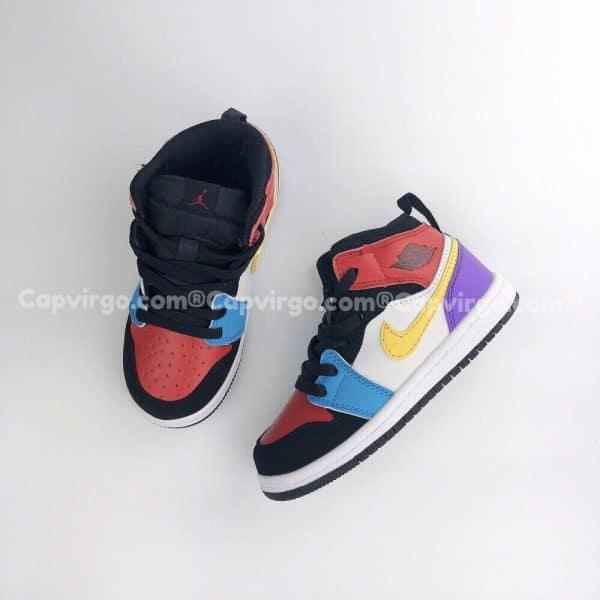 Giày trẻ em Air Jordan 1 Mid pha màu