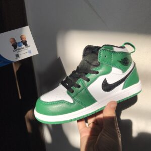 Giày trẻ em Air Jordan 1 Mid xanh lá mix trắng