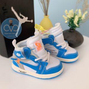 Giày trẻ em jordan off white xanh trắng