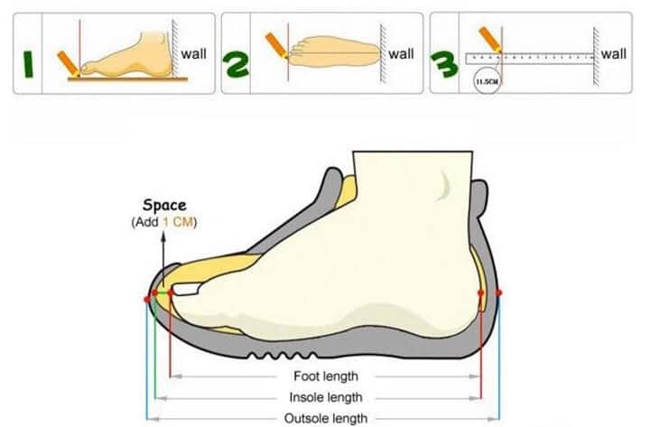 Mách bố mẹ chọn size giày cực chuẩn cho con