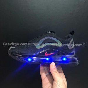 Giày trẻ em Nike air max màu đen đế đèn nháy