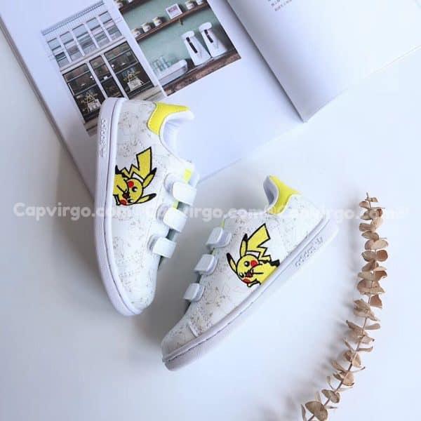 Giày trẻ em Stan Pokemon màu trắng vàng