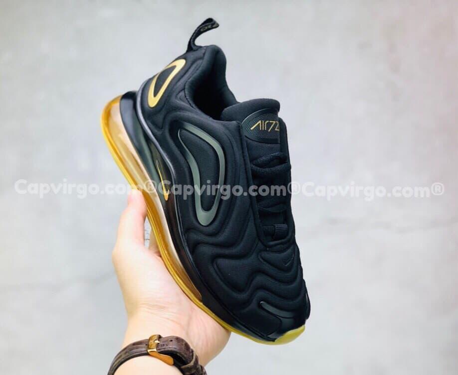 Giày trẻ em Nike air max màu đen mix vàng