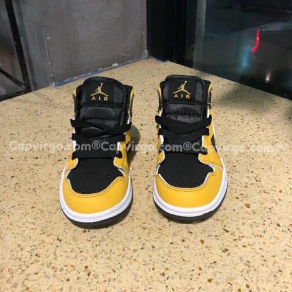 Giày trẻ em Air Jordan 1 Mid màu vàng đen