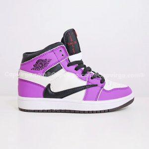 Giày trẻ em Air Jordan 1 Mid màu tím trắng