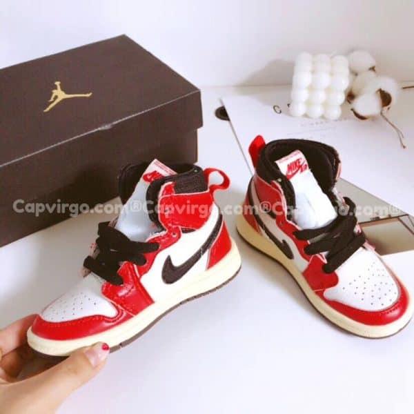 Giày trẻ em Air Jordan 1 Mid màu nâu đỏ