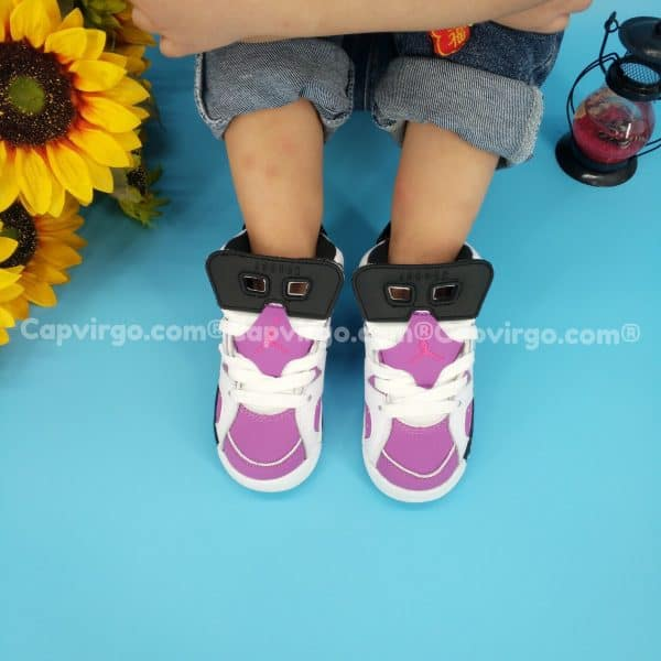 Giày air Jordan 6 trẻ em màu tím hồng