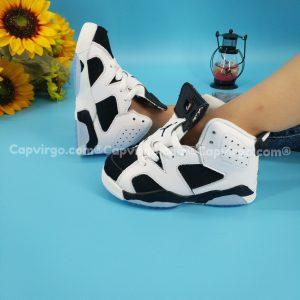 Giày air Jordan 6 trẻ em màu trắng đen