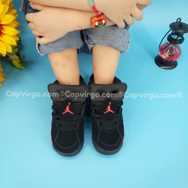 Giày air Jordan 6 trẻ em màu đen