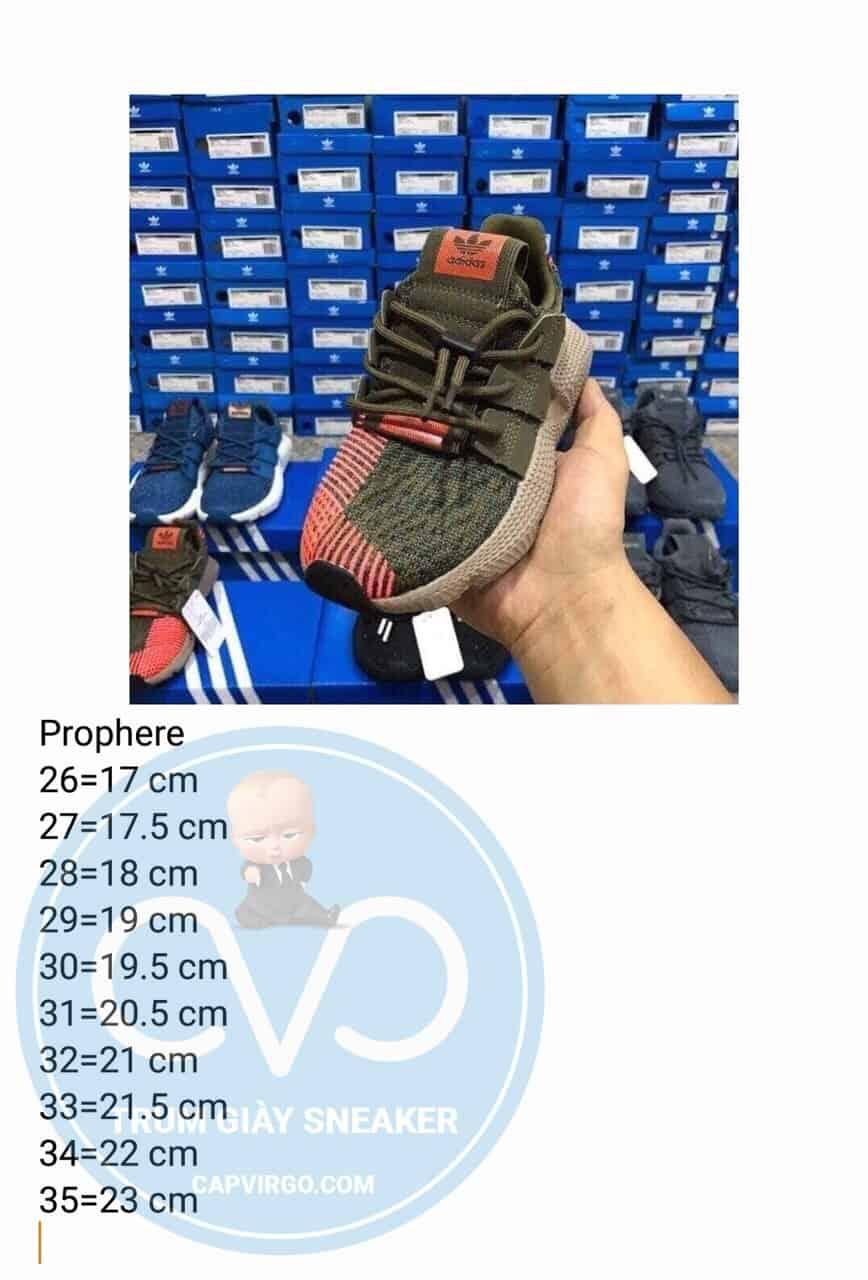 Bảng size giày adidas Prophere trẻ em