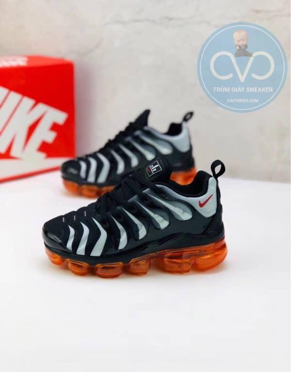 Giày trẻ em Nike Air Vapormax Plus màu đen ghi