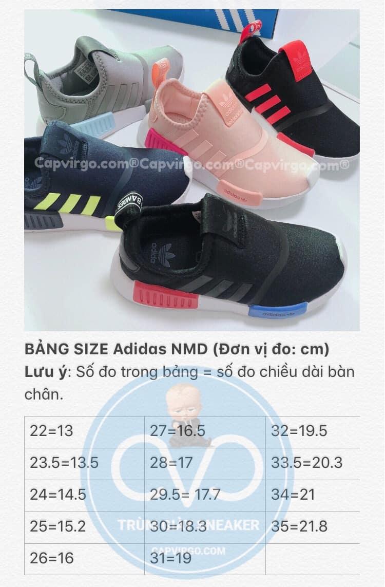 Bảng size Giày adidas NMD 360 trẻ em