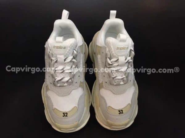 Giày Balenciaga Triple S trẻ em màu ghi xám