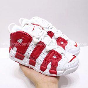 Giày trẻ em Nike Air More Uptempo màu trắng đỏ