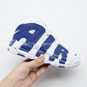 Giày trẻ em Nike Air More Uptempo màu trắng xanh