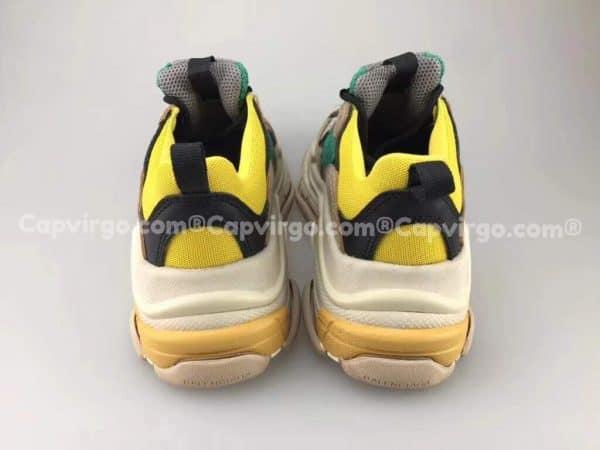 Giày Balenciaga Triple S trẻ em màu vàng xanh