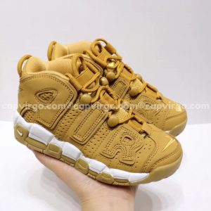 Giày trẻ em Nike Air More Uptempo vàng mù tạt