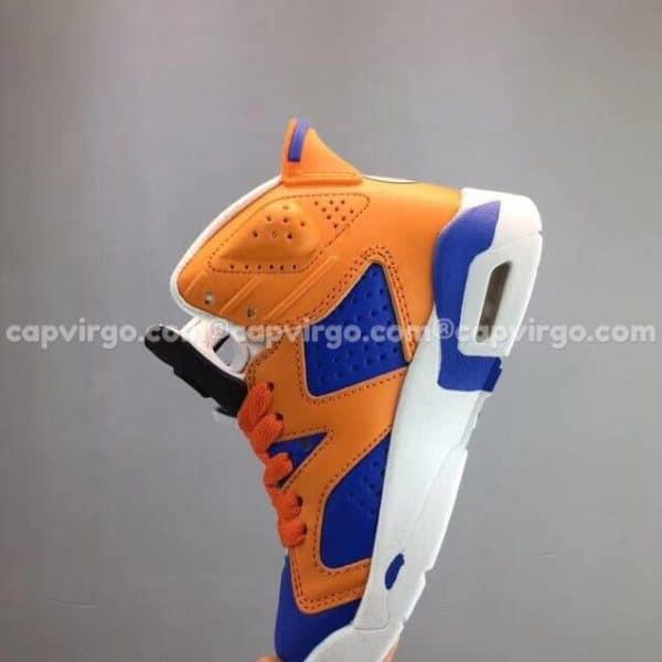 """Giày trẻ em Air Jordan 6 """"Dragon Ball"""" xanh cam"""