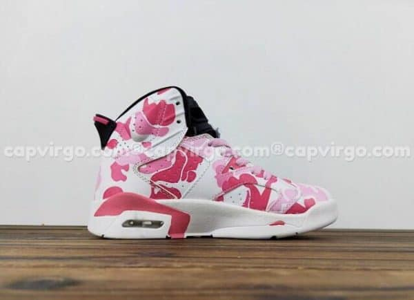 Giày trẻ em Air Jordan 6 Camo hồng