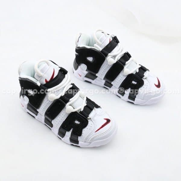 Giày trẻ em Nike Air More Uptempo trắng đen