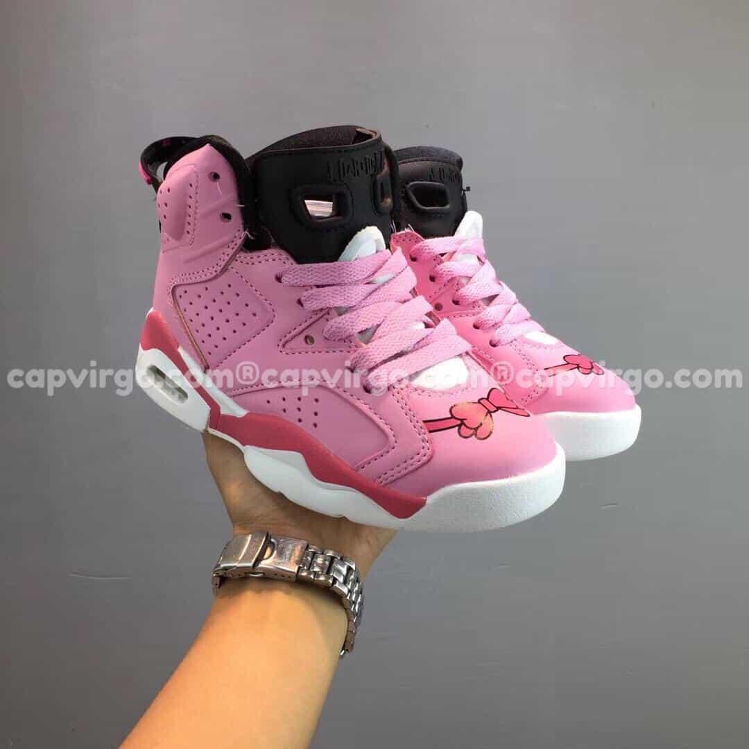 """Giày trẻ em Air Jordan 6 """"Hello Kitty"""" hồng"""