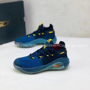 Giày trẻ em Under Armour curry 6 màu xanh dương