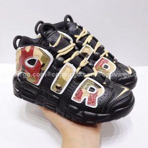 Giày trẻ em Nike Air More Uptempo màu đen lính