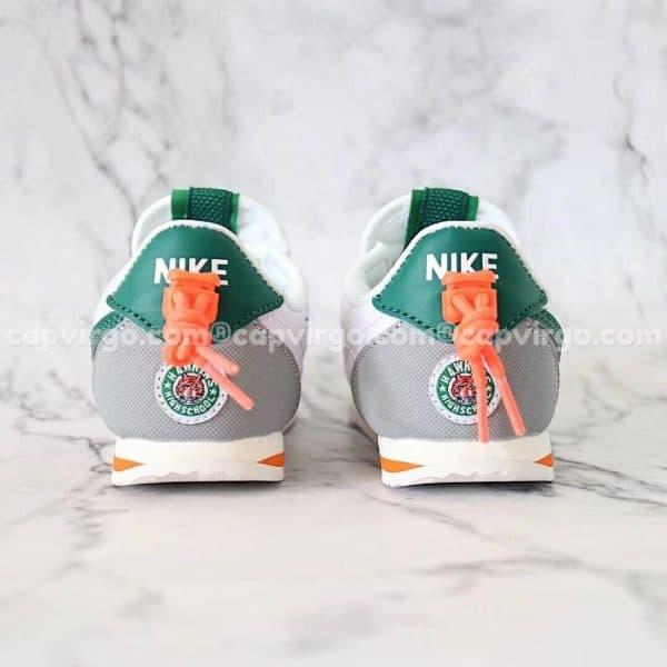 Giày thể thao nike Cortez màu trắng xanh lá