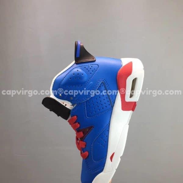 """Giày trẻ em Air Jordan 6 """"Captain America"""" màu xanh"""