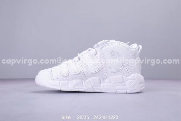 Giày trẻ em Nike Air More Uptempo màu full trắng