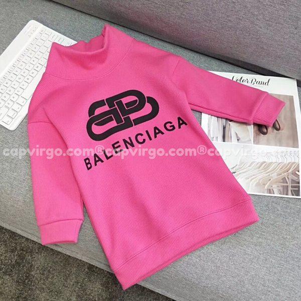 Áo trẻ em Balenciaga dài tay màu hồng
